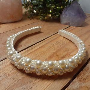 ⚪Vintage pearl headband